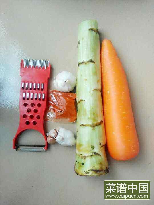 凉拌莴苣卷的做法步骤1