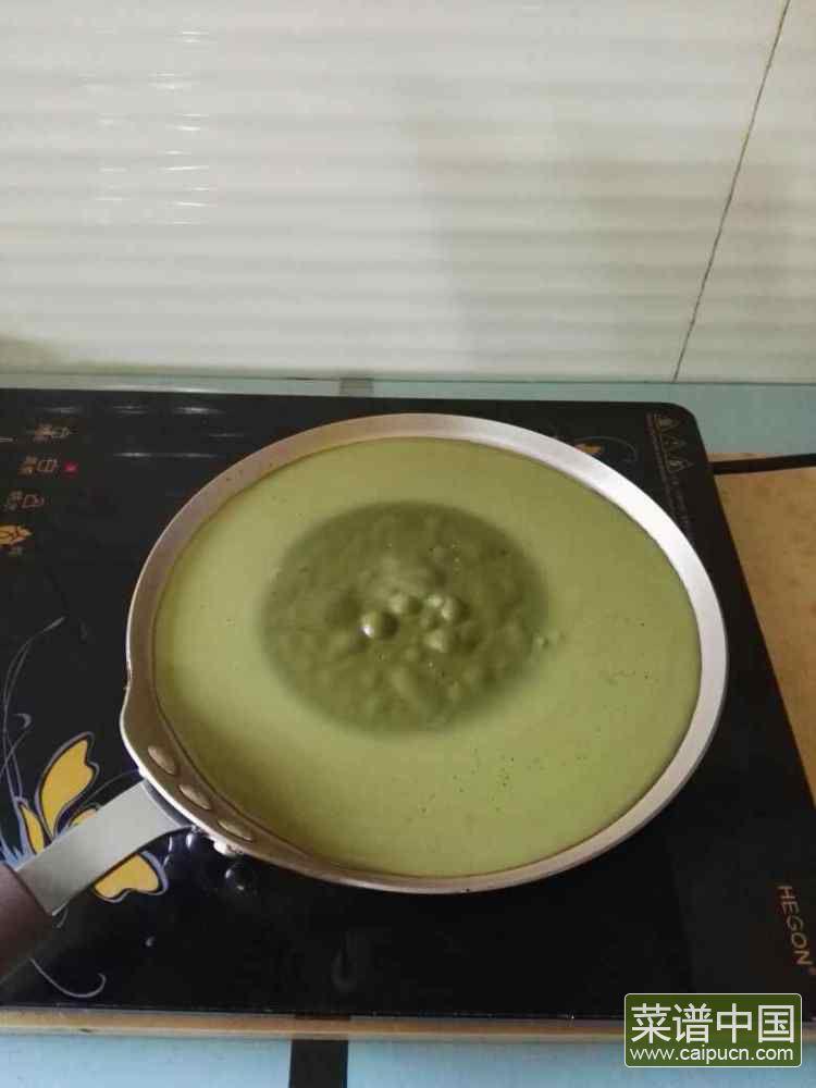 芒果抹茶千层的做法步骤7