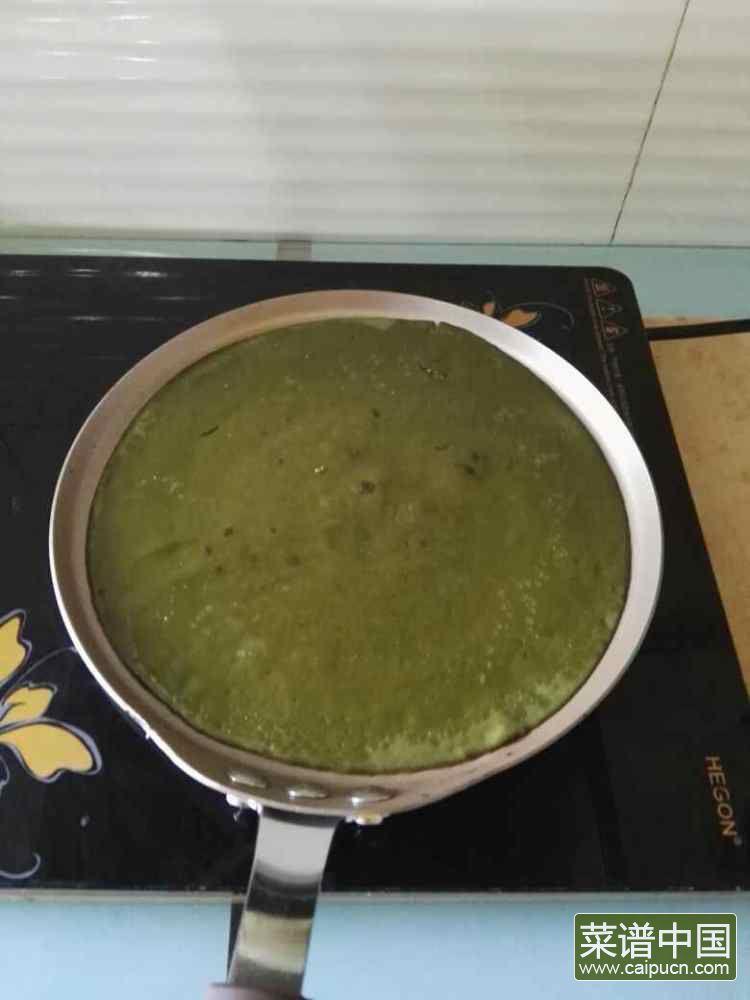 芒果抹茶千层的做法步骤8