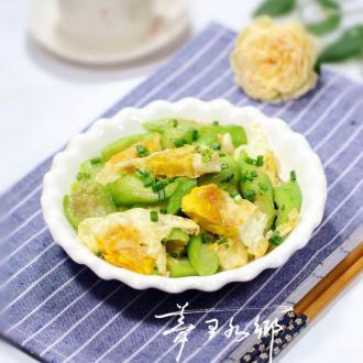 丝瓜炒荷包蛋