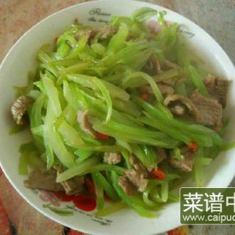 莴笋丝炒肉