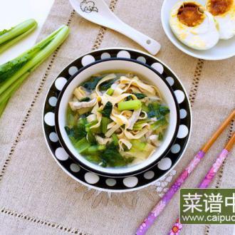 肉丝豆皮青菜汤