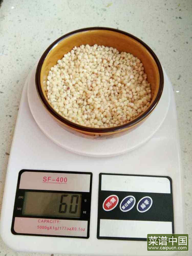 绿豆高粱米花生米糊的做法步骤1