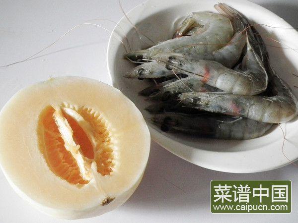 香瓜虾球的做法步骤1