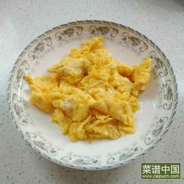 莴苣炒鸡蛋的做法步骤4
