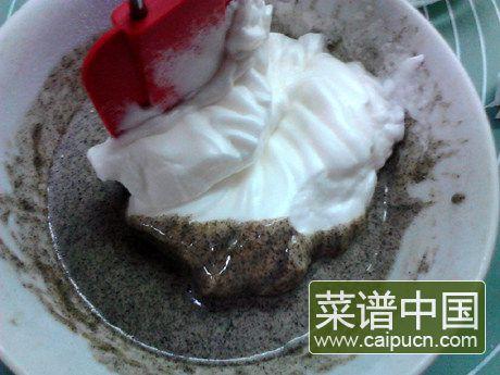 黑米戚风蛋糕的做法步骤8