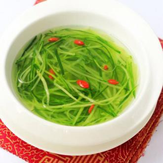 黄瓜虾皮汤