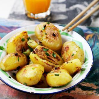 香煎杏仁小土豆