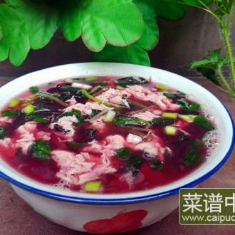 红芥菜鸡蛋汤