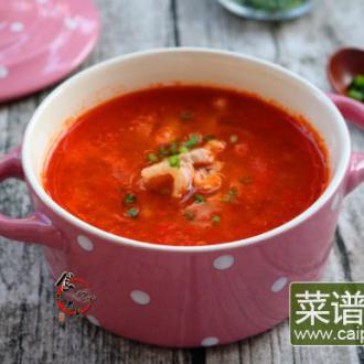 番茄肉丝浓汤#盛夏餐