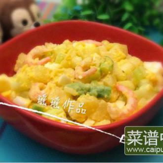 土豆芦笋甜虾色拉