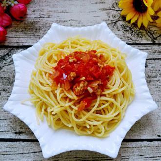 #盛夏餐桌#番茄肉酱意