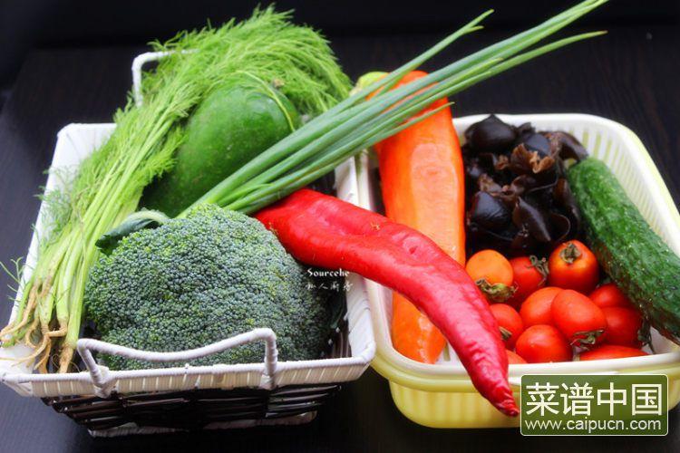 夏日排毒五色沙拉#盛夏餐桌#的做法步骤1