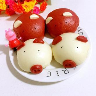 可爱猪猪包