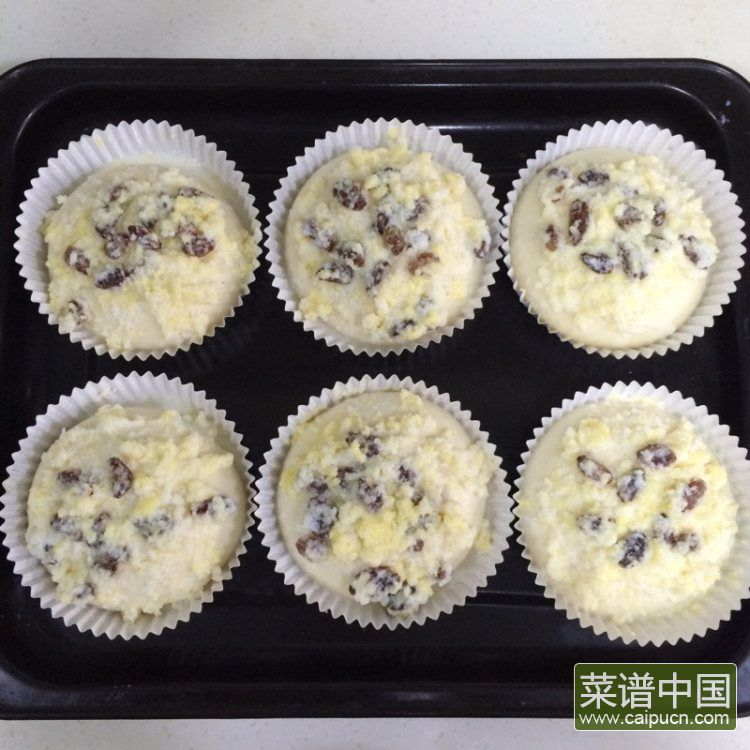 葡萄干椰蓉泡浆面包的做法步骤12