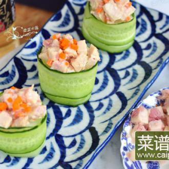 金枪鱼肠黄瓜寿司#盛