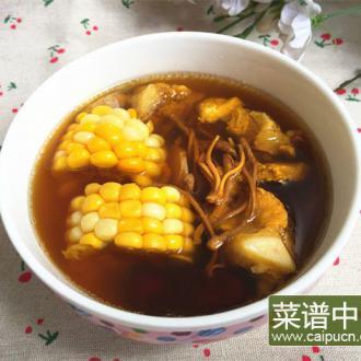 虫草花玉米煲排骨汤