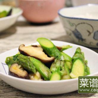 #盛夏餐桌#香菇芦笋