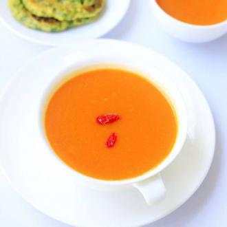 胡萝卜枸杞豆浆#盛夏