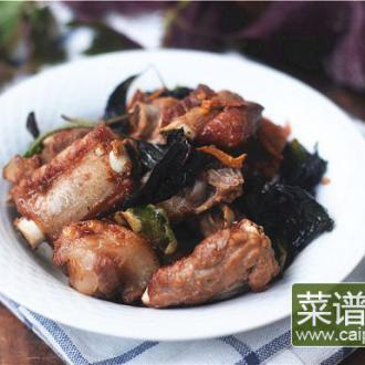 紫苏炒排骨