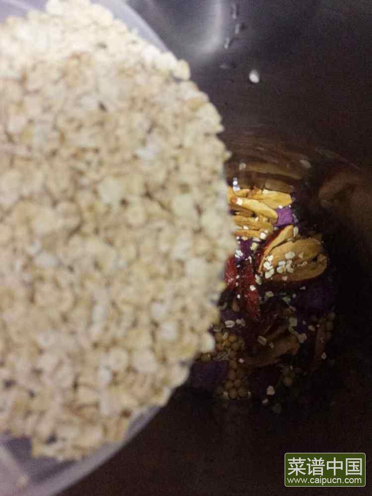 紫薯燕麦豆浆的做法步骤5