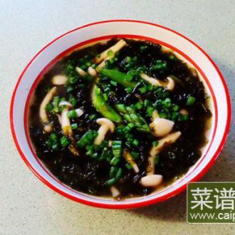 紫菜芦芛白玉菇汤