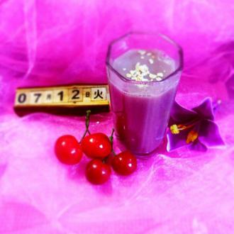 紫薯燕麦豆浆