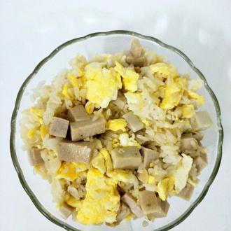 肉糕鸡蛋炒饭