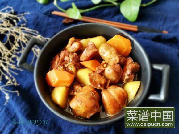 土豆胡萝卜焖鸡块的做法 步骤