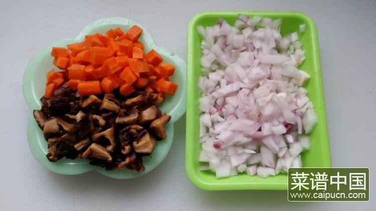 香菇酱肉饭的做法步骤3