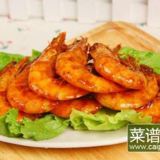 番茄沙司煎大虾