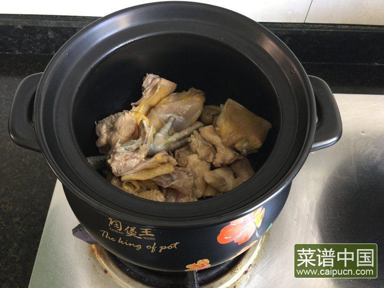 山药枸杞鸡汤的做法步骤4