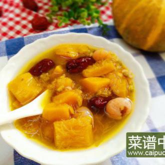 桂圆南瓜红枣绿豆汤
