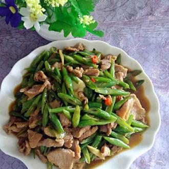 四季豆炒瘦肉