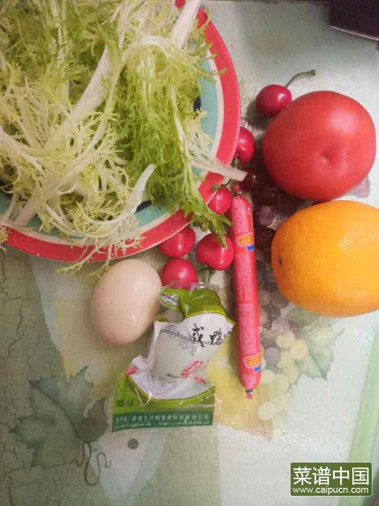 花环沙拉的做法步骤1