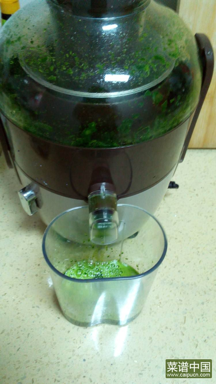 菠菜双色吐司的做法步骤1