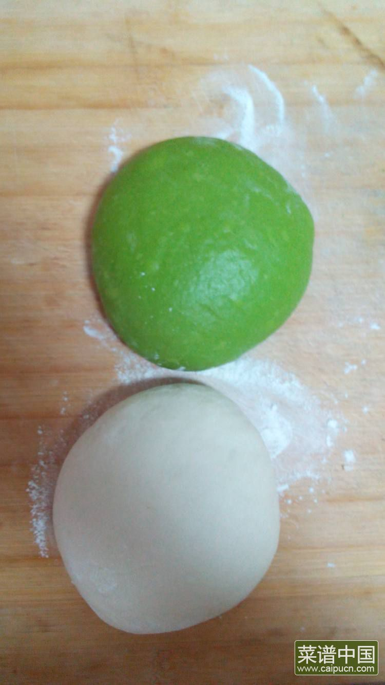 菠菜双色吐司的做法步骤10