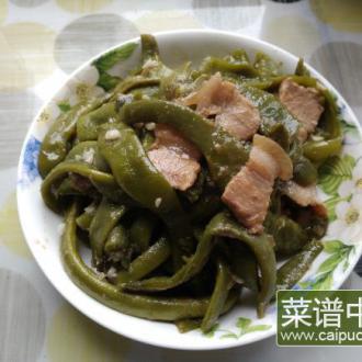 青椒烧四季豆