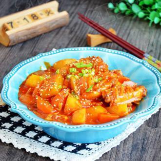 韩式辣炖鸡翅