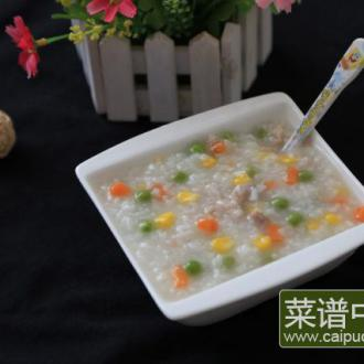 杂蔬肉丁粥