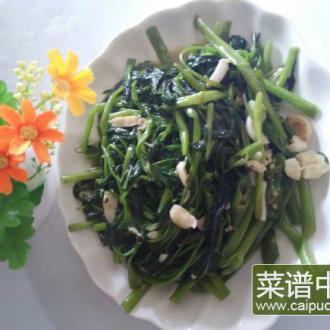 辣椒腐乳炒通菜