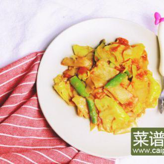 炒饺子皮蔬菜面片