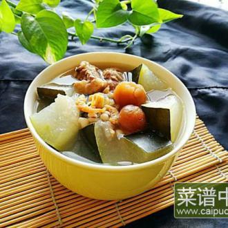 秋季之冬瓜海鲜排骨汤
