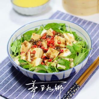 荆芥拌豆腐