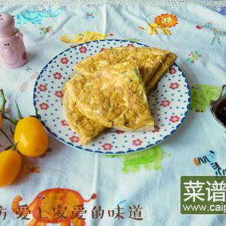 烙饼蘸鸡蛋