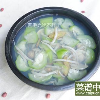 丝瓜沙虫蛤蜊汤
