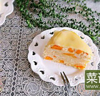 榴莲芒果双拼千层蛋糕