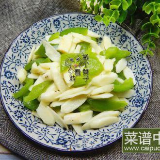青椒炒山药片