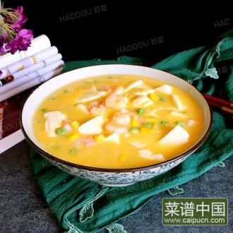 虾仁蛋黄豆腐