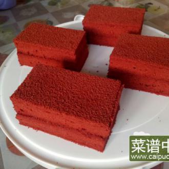 红砖块红丝绒蛋糕